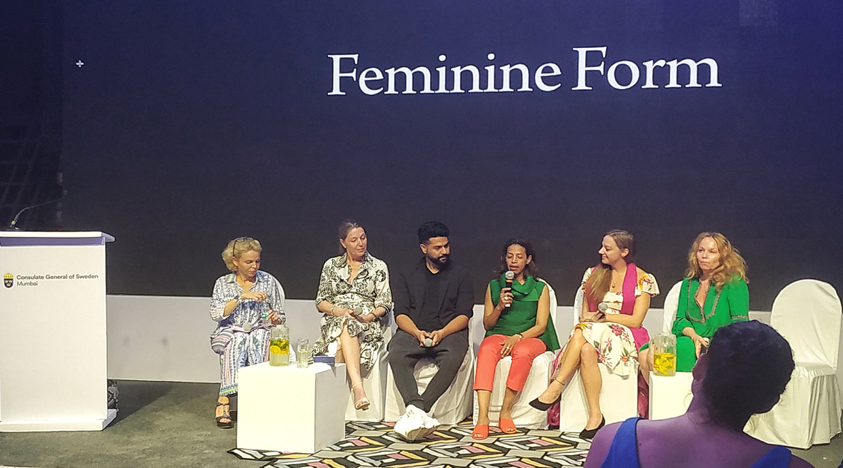 Swedish Style Mumbai opened with a discussion on 'The Feminine Form'