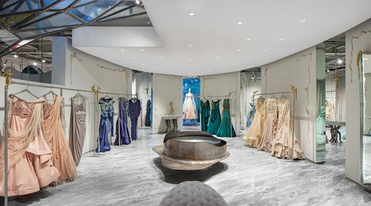 Studio Lotus designs Gaurav Gupta flagship store in New Delhi