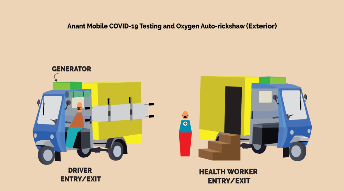 Anant National University develops the Anant COVID-19 Testing and Oxygen Auto-rickshaw
