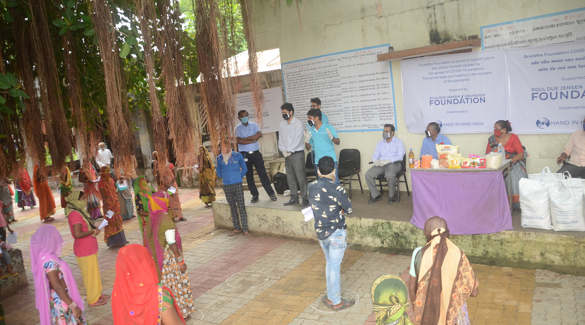 Grundfos Foundation supports local communities in Gujarat during the COVID-19 pandemic
