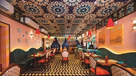 Colaba in Mumbai is home to the pan-Arabian restaurant Maffy's, designed by Jatin Hukkeri
