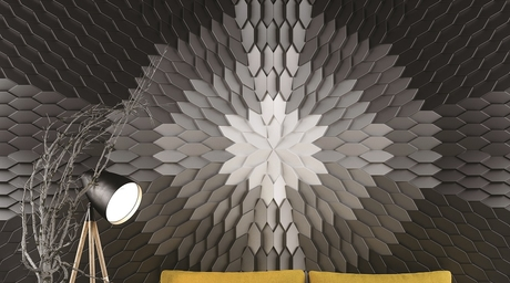 Available in six colours, Ventura's 3D wall panels are sure to thrill