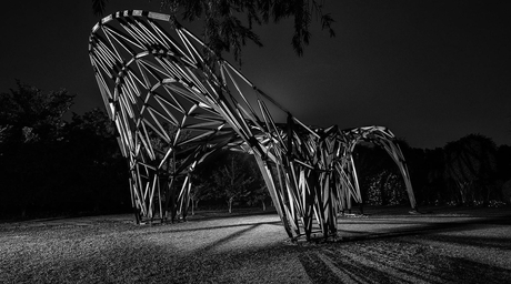 Plaisiophy by Orproject is a pavilion made of timber