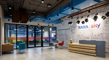 Tata Sky office in Mumbai designed by The Canvas