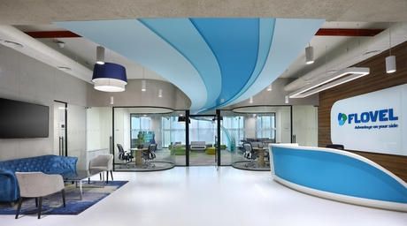 Check out the smart and vibrant new corporate office of Flovel