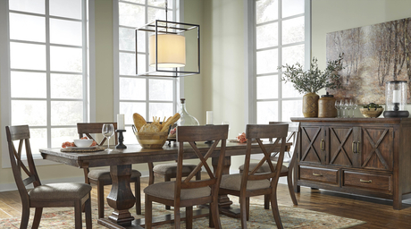 New dining room furniture by Ashley Furniture is here!