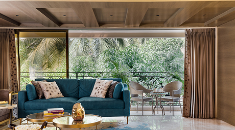 Studio Osmosis completely transforms this living room in a Mumbai home