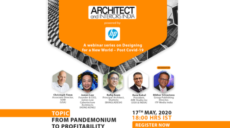 Architect and Interiors India presents a webinar series on Designing for a New World – Post Covid-19