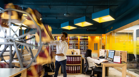 ACCOUNTS-IN-MOTION captures the essence of quintessential and contemporary workspaces