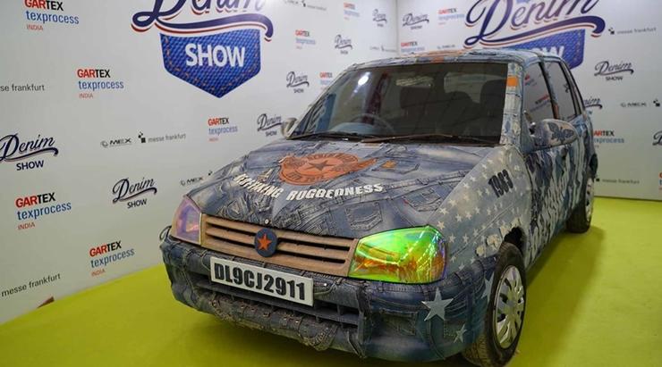 Denim wrapped Car at Gartex Texprocess India