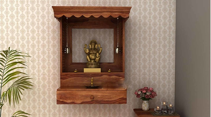 Traditional Wall-mounted Home Temple: