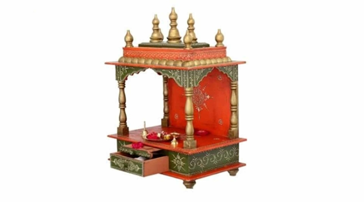 Colourful wooden home temples