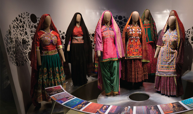 The Shrujan Community Gallery One showcases embroidery art and crafts from ten communities spread over Kutch.