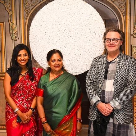 Aparajita Jain, founder & director, Saat Saath Arts & Peter Nagy, curator, The Sculpture Park