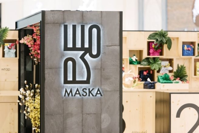 Divias recently created a dynamic kiosk for Maska Dubai Mall, a gift wrapping brand inspired by the Japanese art of Furoshiki.