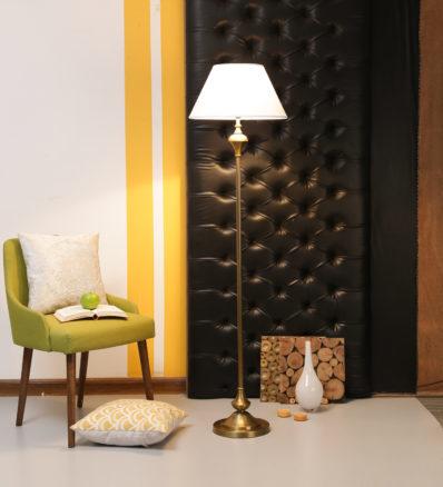 Antique Brass Floor Lamp by Casacraft.