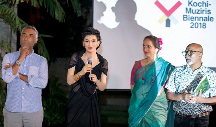 (L-R) V Sunil, Shalini Passi, Sanjna Kapoor and Bose Krishnamachari.