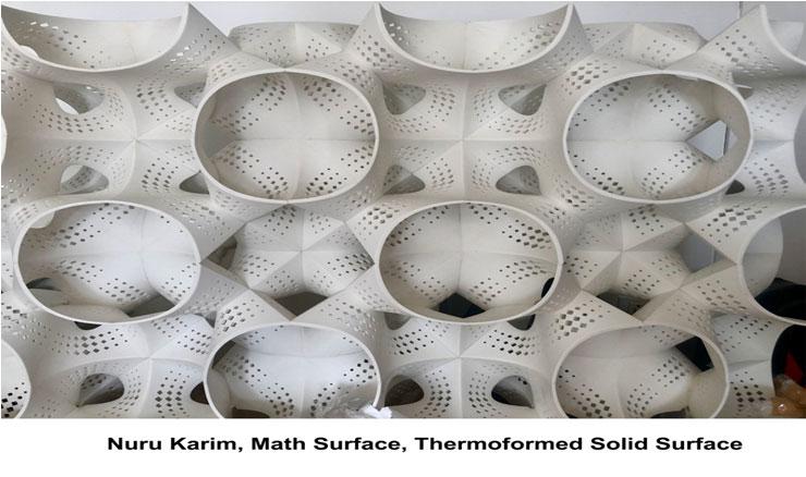 Nuru Karim, Math Surface, Thermoformed Solid Surface.