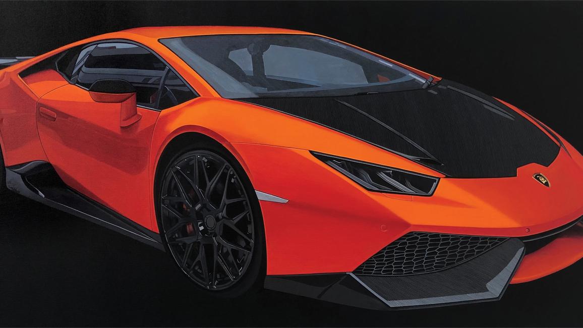 Lamborghini; 30in x 60in.