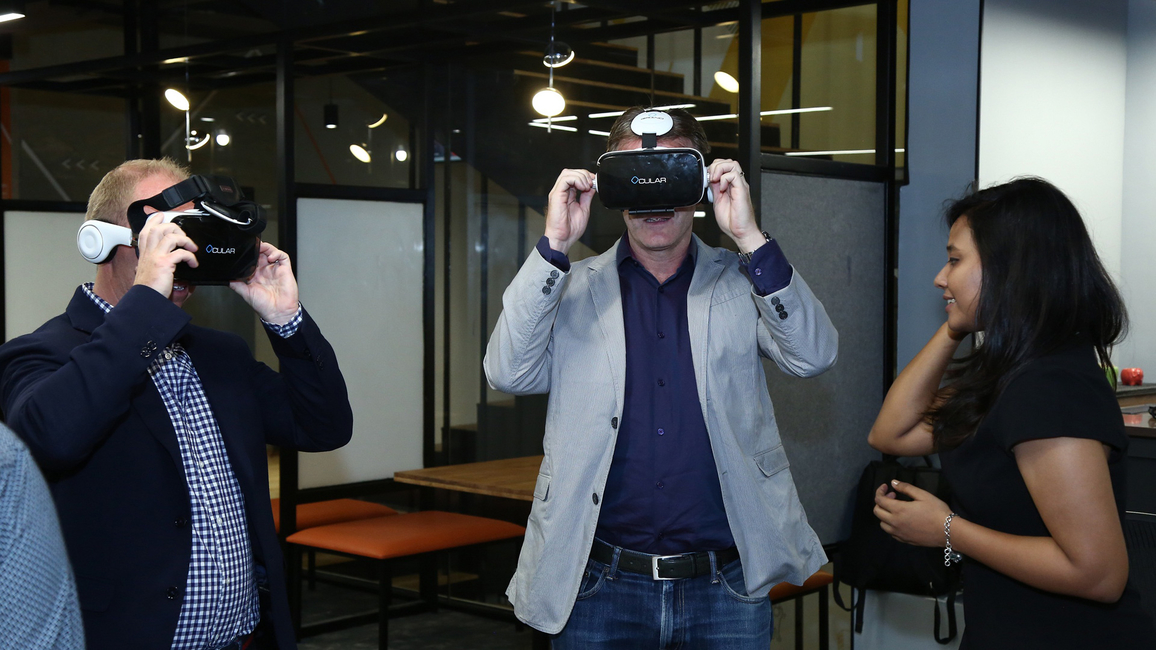 Demonstratopn of 3D walk through by VR Technology - Codec developed by Space Matrix.