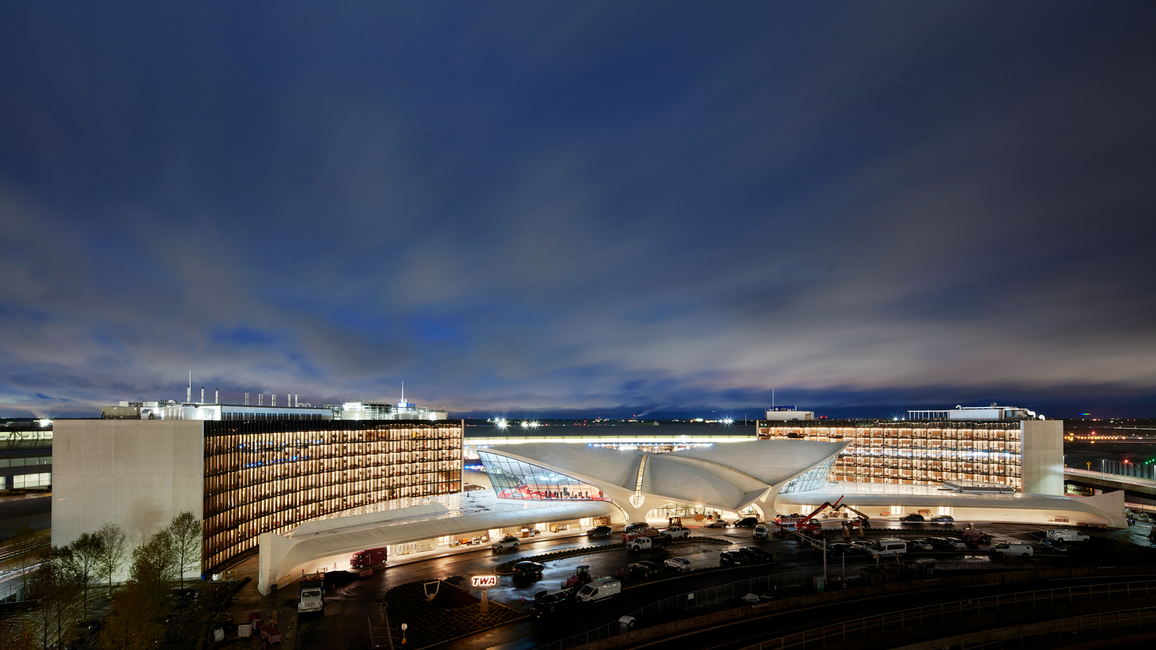 The LEED-certified building has its own power plant and is entirely off the grid. (TWA Hotel/David Mitchell)