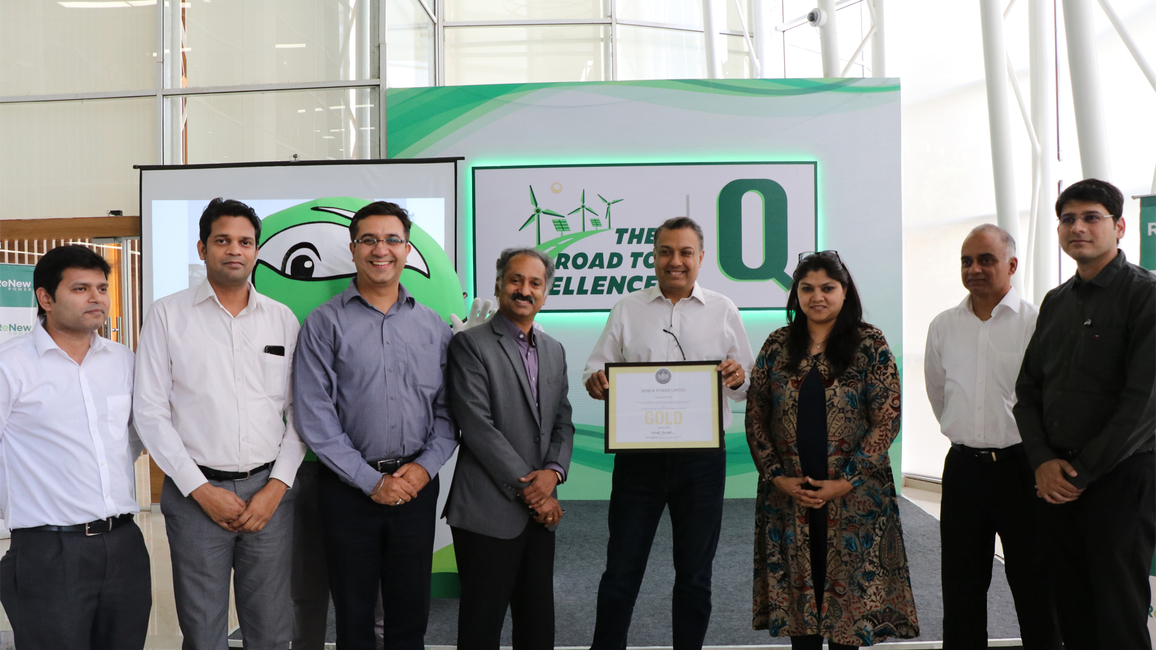 The team from ReNew Power receives the LEED Certification