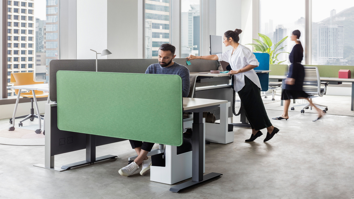 Sarto Screens by Steelcase Inc.  - An attractive way to create visual separations in offices