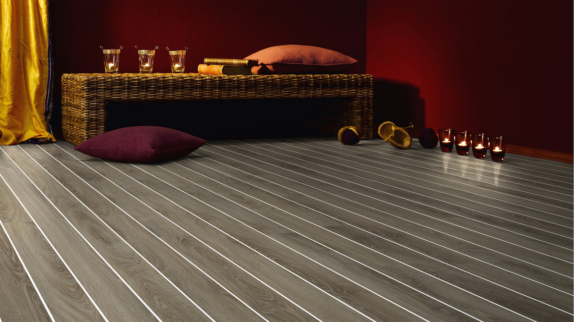 Trendy and stylish, Notion's new inlay laminate flooring can brighten up any space