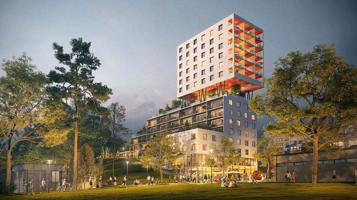 Hagsatra Hub by Swedish architect Rahel Belatchew focuses on revitalising the area