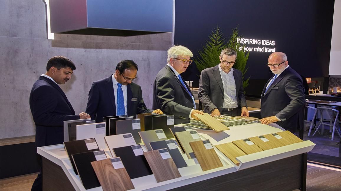 Greenlam Industries Ltd. presented their laminates and veneers at Interzum 2019