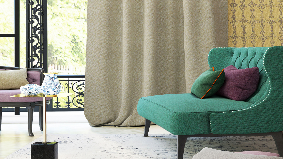 Basalt is a collection of vibrant decorative weaves that combine style and elegance with practicality