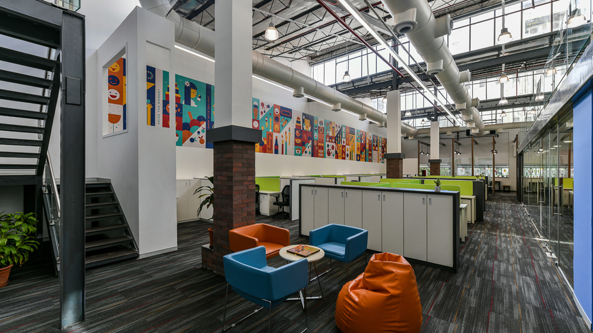Astitv designed the Keva Flavours office premises with an open plan