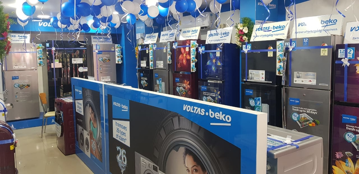 Voltas' new shop at Gajuwaka, Visakhapatnam, is well-stocked with Voltas and Voltas Beko products.
