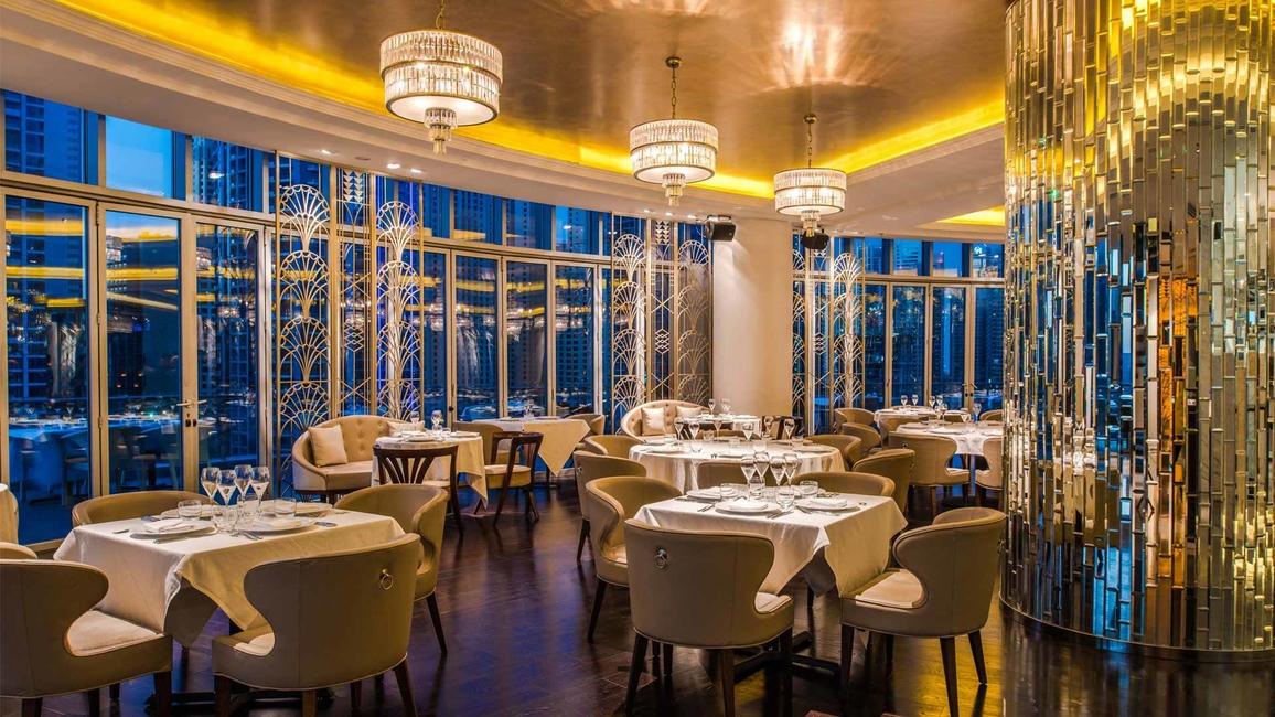 The restaurant is located at the Dubai Marina