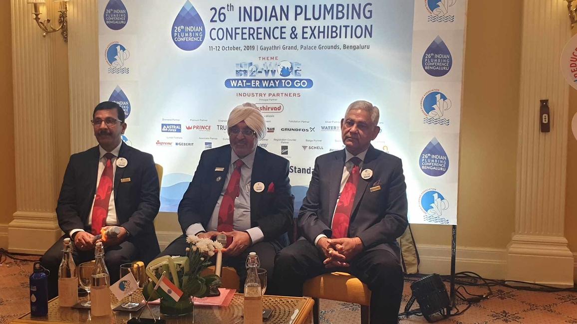 L-R: Prasanna Kumar, chairman, IPA BLR Chapter; Gurmit Singh, national president, IPA; and CS Gupta, national secretary, IPA.