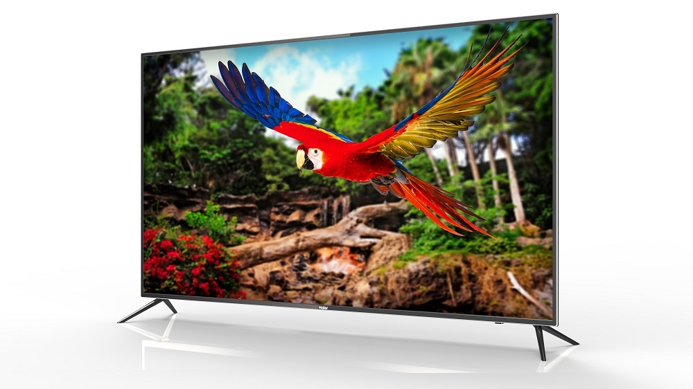 Haier's new Android TV series dovetails features and aesthetics with a sleek design, diamond-cut metal frame, Dolby Digital Decoder and Stereo Sound.