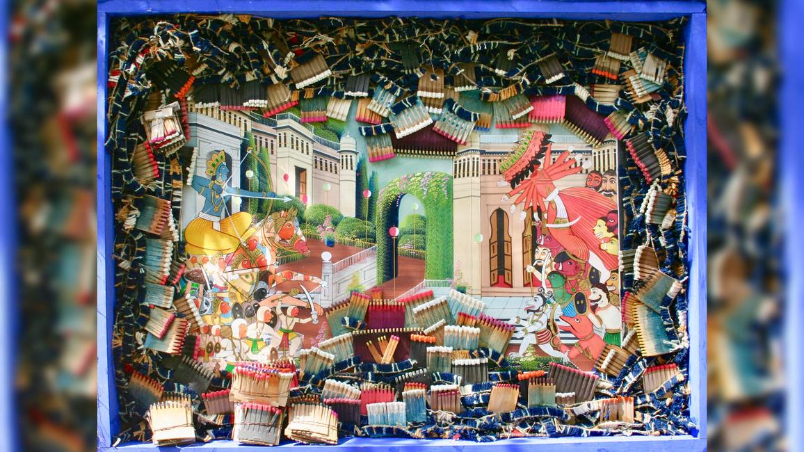 Ultramarine, ART SHOW, WOLF JAIPUR, MINIATURE PAINTINGS, Baro, Surya Singh, Shimmering, Srila Chatterjee, Ritu Singh, Heritage, Installations, The Museum of Fine Arts, Houston, Magical, Mumbai, Scenography, Art, Incredible artworks