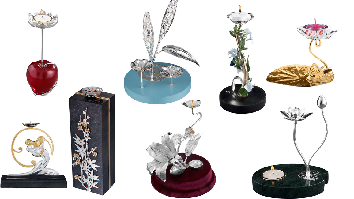 Frazer and Haws, Silver Candle Stands, Tea Light Holders, Candle Stands, Magnificent Collection, Silver, Light holders, British brand, Metal-worker, Buckingham Palace, Queen Alexandra, Edward VII, Elton John, Winston Churchill, Crown Jeweller, Garrard & Co