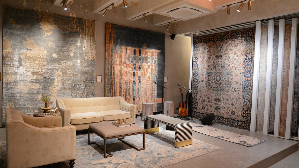 OBEETEE, Handmade rug, Hand-woven rug, Indian heritage brand, Social Accountability System Certificate, Hand knotted, Mirzapur, Design studios, Creative  rug, Quality craftsmanship