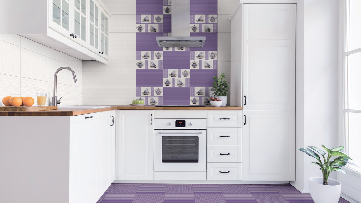 Purple Stripes from Orient Bell Limited's new range of tiling solutions