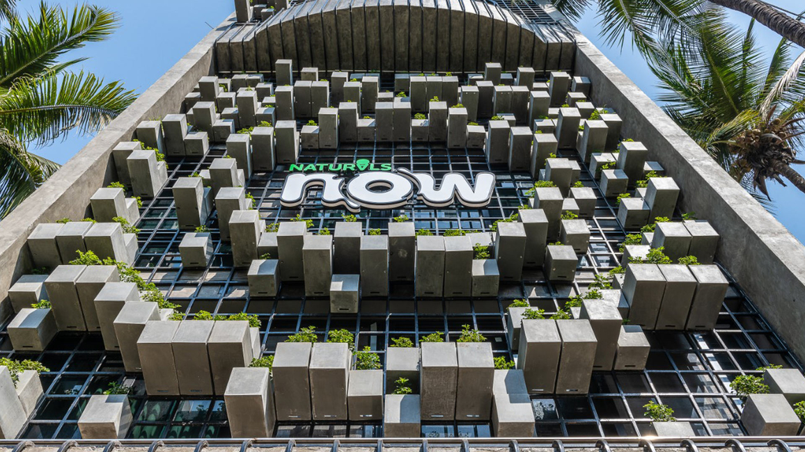 The façade of the building housing Naturals Now is embellished with 350 pots, attracting eyeballs that translate to footfalls.