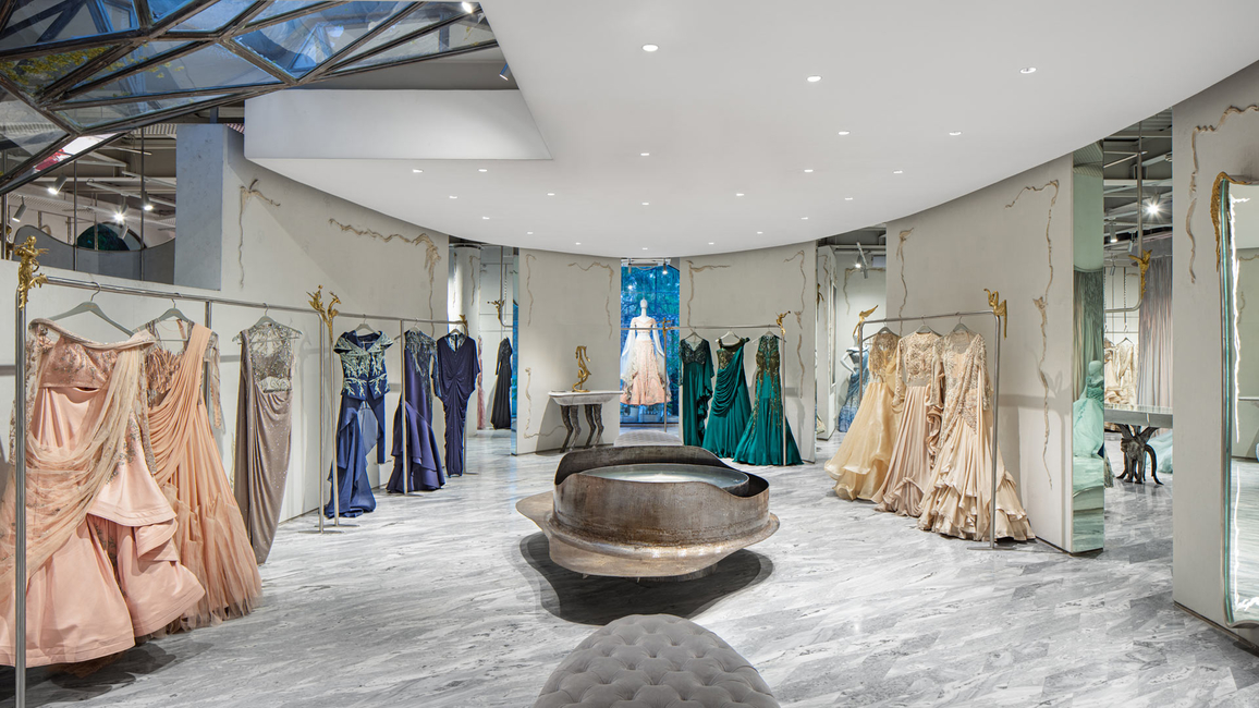 Fashion designer Gaurav Gupta's flagship store, designed by Studio Lotus