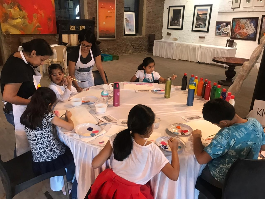 Art 35 exhibition, Nine Fish, 35 artists under the age of 35, Dot Line Space Art Foundation, Byculla, Art workshops, Painting, Sculpture, Curators, Writers, Designers, Media artists, Art35