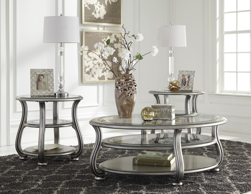 Ashley Furniture, Ashley Furniture Home Store, Furniture Home Store, Coralayne, Hollywood Regency flair, Swan neck legs, Furniture, Tables, Design, Designers, Hollywood Regency, Collection, Silver, Interiors, Home decor
