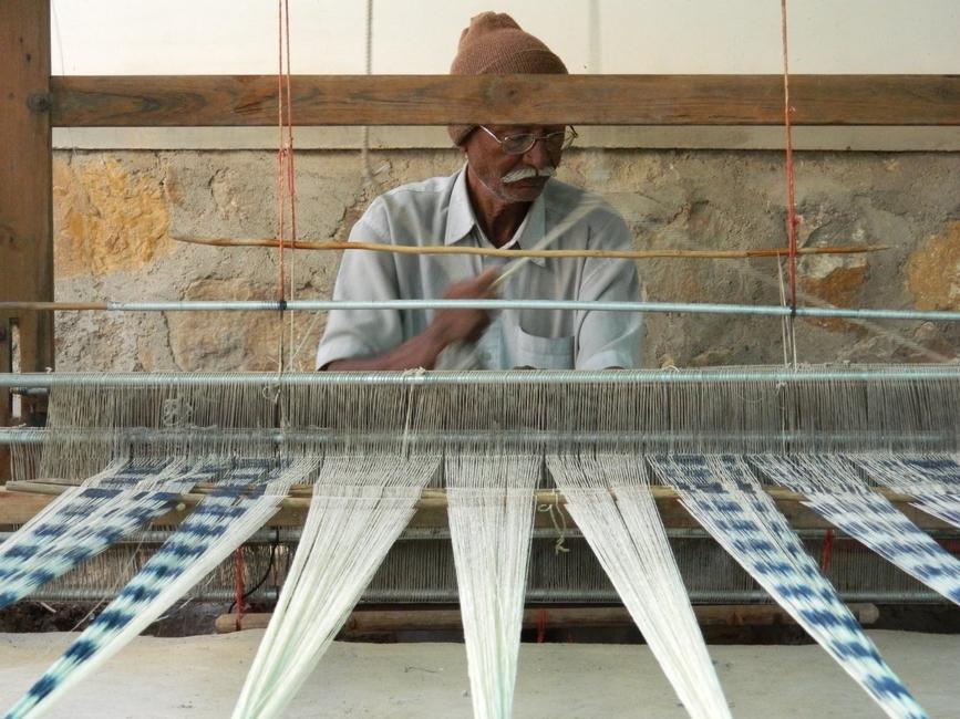 Kutch weaver at work at Khamir.