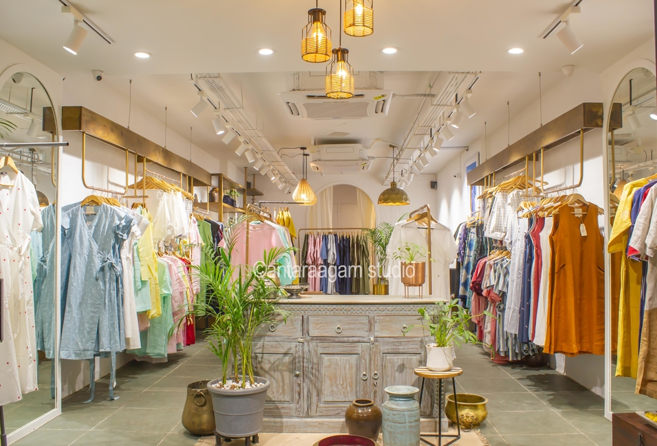 Zebein, Antaraagam Studio, Retail design, Fastion boutique store, Clothing brand, Ahmedabad, Contemporary retail space