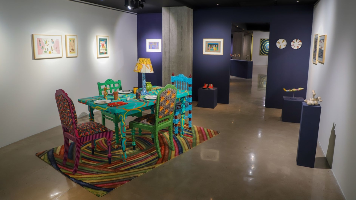 Alexander Gorlizki, Otherworldly Interiors, Ahmedabad, Gallery Ark, Exhibition, Riyaz Uddin, Indian miniature painting, Art gallery