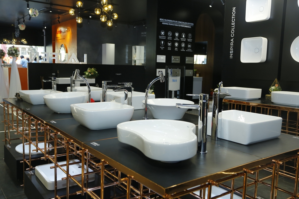 Roca, Experience Centre, Contemporary bathrooms, Laufen, Switzerland, Parryware, Bengaluru, Designer bath products, Premium bath fixtures, Display studio