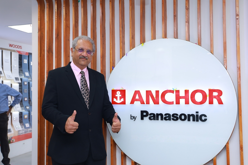 Vivek Sharma, MD, Panasonic Life Solutions India, at the launch of the company's first exclusive brand store in Hyderabad.