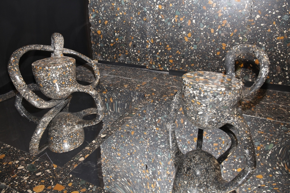 Ar.  Asheish Shah's sculpture 'Jalsha' crafted out of CMC's Royal Black Terrazzo